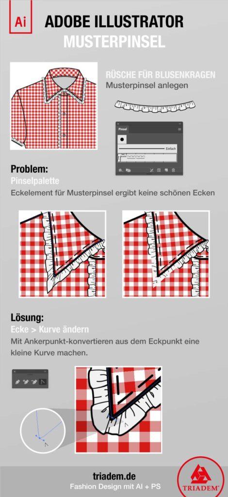 Musterpinsel Modedesign Illustrator